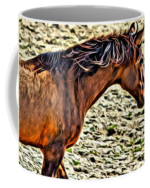 Horse Coffee Mug featuring the photograph Wild Bronc by Alice Gipson