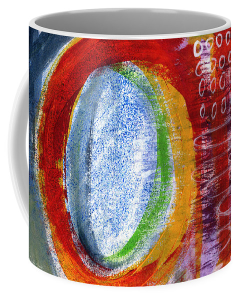 Abstract Painting Coffee Mug featuring the painting Wild Dreams by Linda Woods