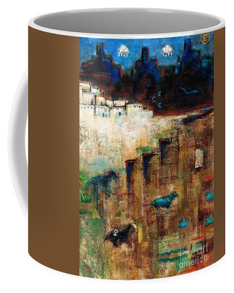 Southwest Art Coffee Mug featuring the painting Wild Horse Canyon by Frances Marino