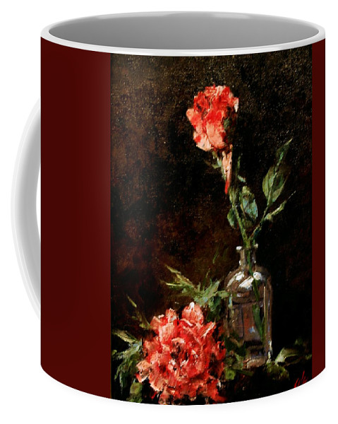 Floral Coffee Mug featuring the painting Wild Irish by Jim Gola