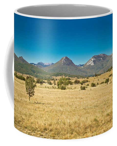 Landscape Coffee Mug featuring the photograph Wild Landscape Of Lika Region Croatia by Brch Photography