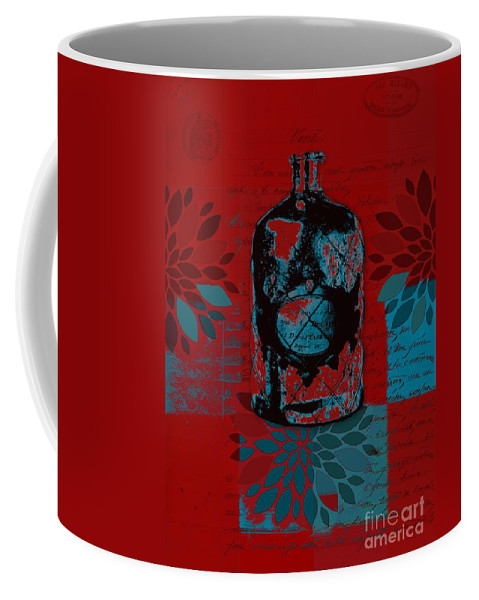 Red Coffee Mug featuring the digital art Wild Still Life - 0101a - Red by Variance Collections
