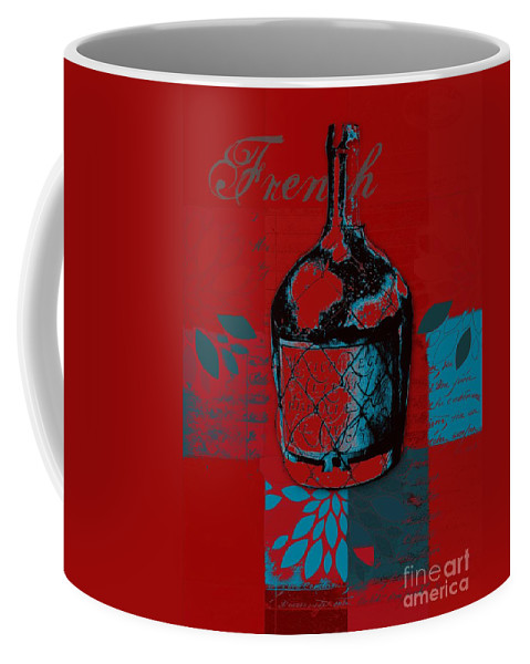 Red Coffee Mug featuring the digital art Wild Still Life - 0102b - Red by Variance Collections