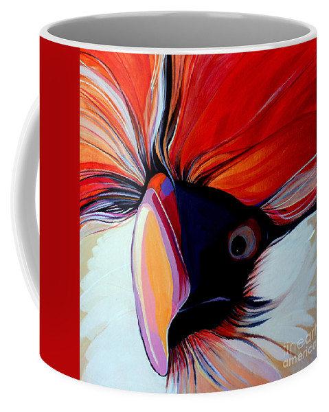 Bird Coffee Mug featuring the painting Wild Thang by Marlene Burns