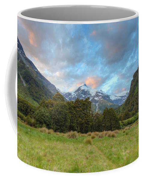 Mountain Coffee Mug featuring the photograph Wilderness Sunset by Alexey Stiop