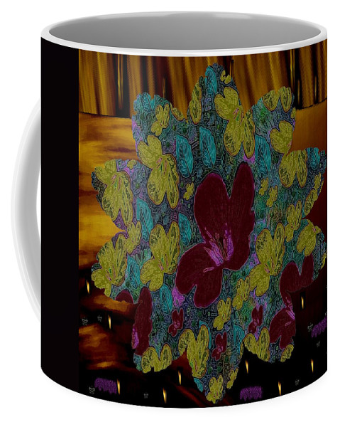 Landscape Coffee Mug featuring the mixed media Wildflower Into The Wilderness by Pepita Selles
