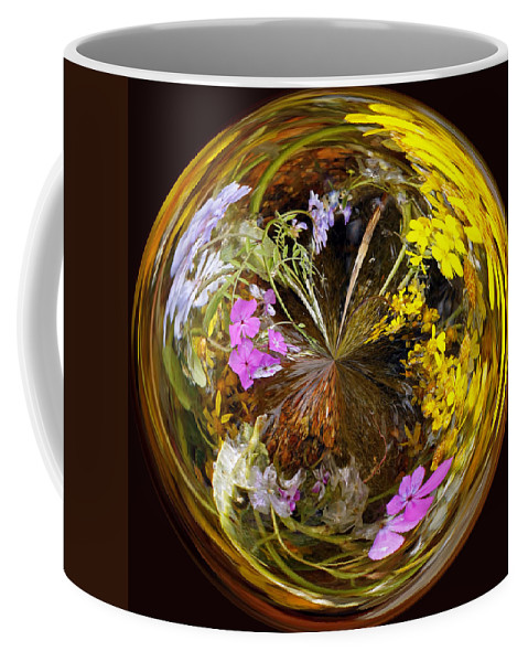Abstract Coffee Mug featuring the photograph Wildflower Paperweight by Gary Holmes