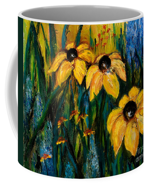 Floral Coffee Mug featuring the painting Wildflowers by Larry Martin