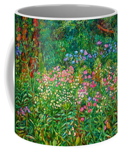 Floral Coffee Mug featuring the painting Wildflowers Near Fancy Gap by Kendall Kessler