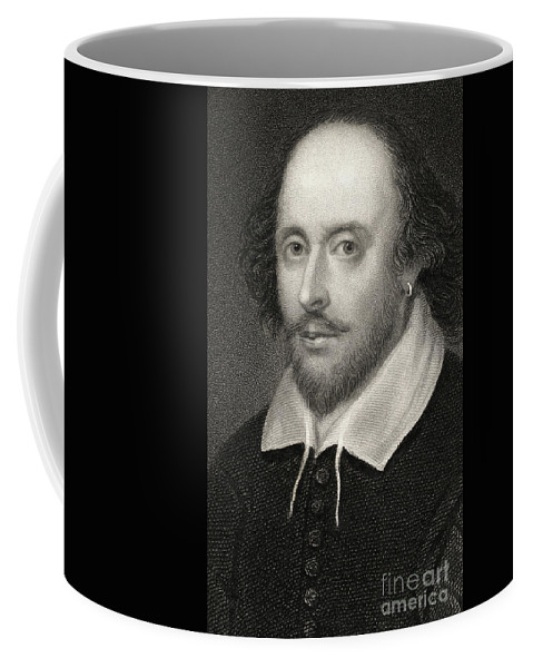 Poet Coffee Mug featuring the drawing William Shakespeare by English School