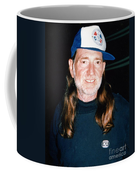 Country Singer Coffee Mug featuring the photograph Willie Nelson 1988 by Ed Weidman