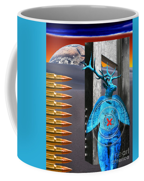 Target Coffee Mug featuring the digital art Willing Target Shot From The Inside Out by Keith Dillon
