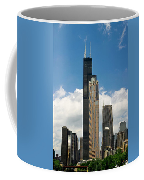 3scape Coffee Mug featuring the photograph Willis Tower Aka Sears Tower by Adam Romanowicz