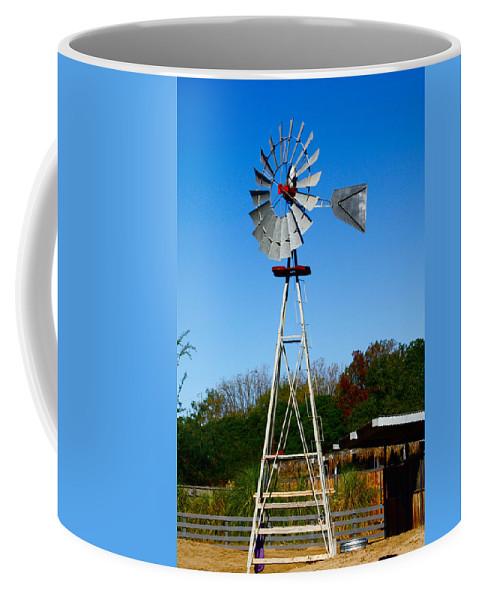 Windmill Coffee Mug featuring the photograph Windmill by Carol Tsiatsios