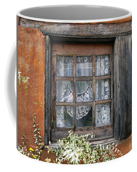 Window Coffee Mug featuring the photograph Window At Old Santa Fe by Kurt Van Wagner