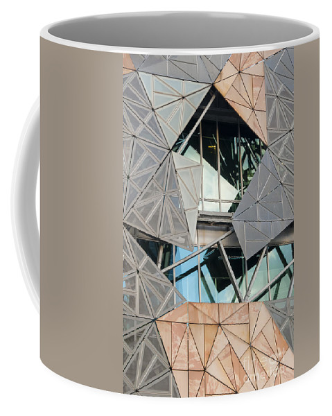 Melbourne Coffee Mug featuring the photograph Window Design by Bob Phillips