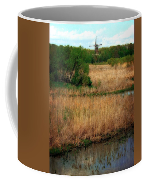 Windmill Island Coffee Mug featuring the photograph Window On The Waterfront Dezwaan Windmill by Michelle Calkins