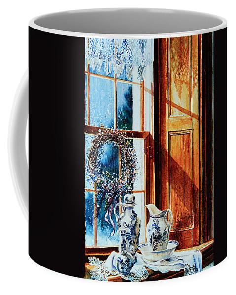 Still Life Coffee Mug featuring the painting Window Treasures by Hanne Lore Koehler