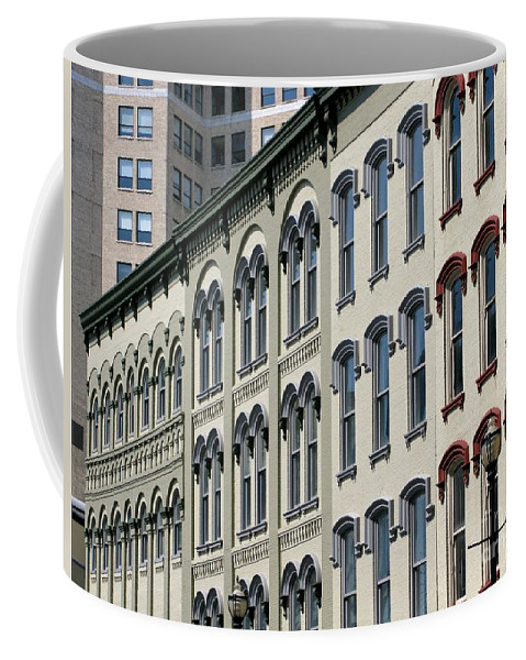 Windows Coffee Mug featuring the photograph Windows by Ann Horn
