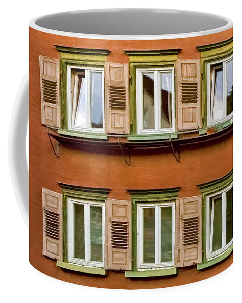 Architecture Coffee Mug featuring the photograph Windows by Marcia Colelli