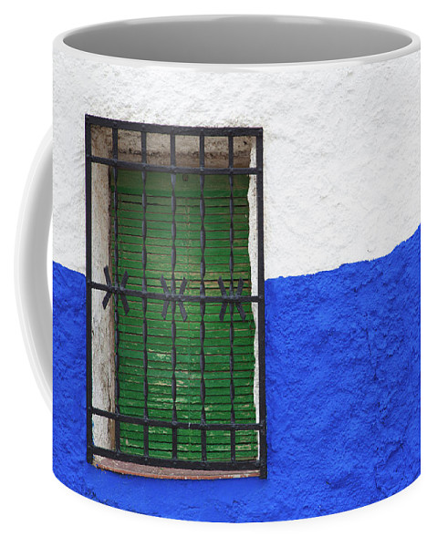 Photography Coffee Mug featuring the photograph Windows Of An Old House, Campo De by Panoramic Images