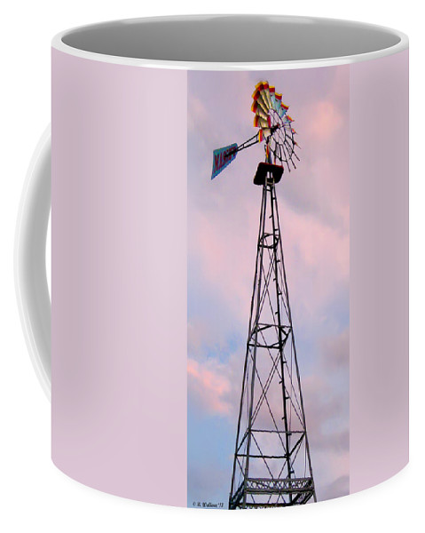 2d Coffee Mug featuring the photograph Windpump by Brian Wallace