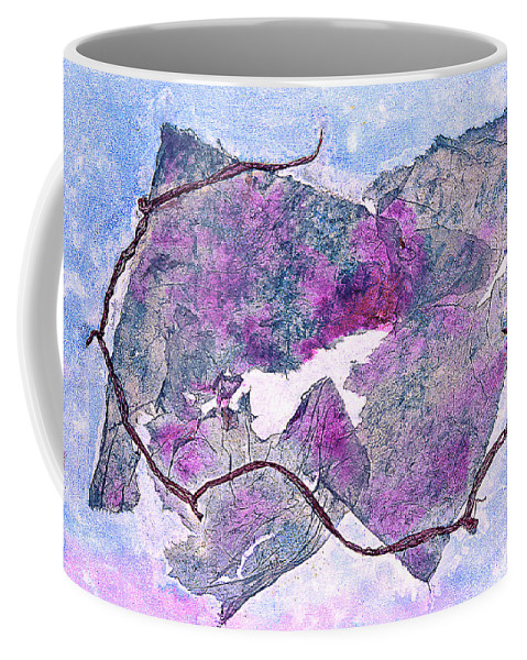 Mixed Media Painting Coffee Mug featuring the painting Wine Country In Northern California by Asha Carolyn Young