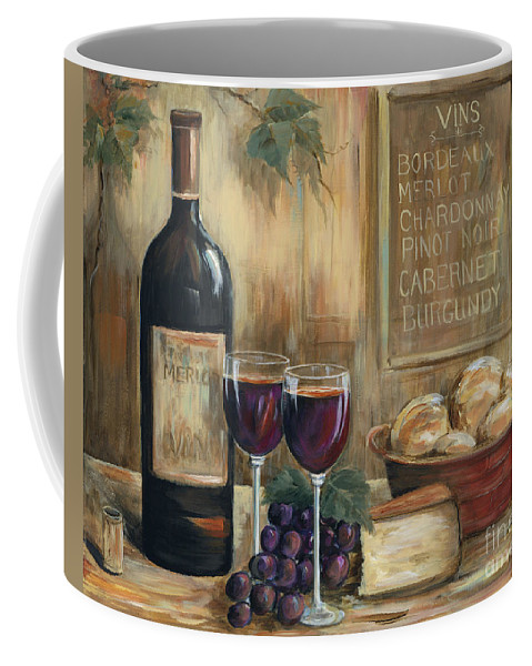 Wine Coffee Mug featuring the painting Wine For Two by Marilyn Dunlap