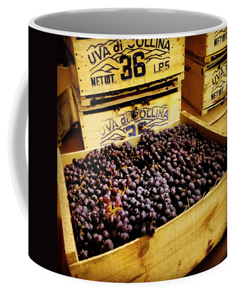 Grape Coffee Mug featuring the photograph Wine Grapes by Angela Rath