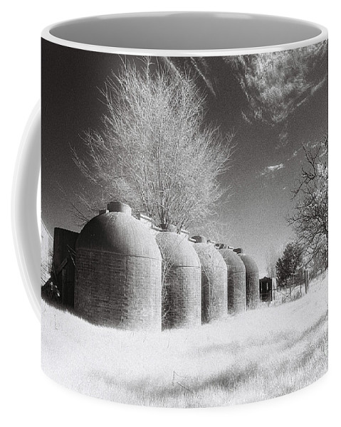 Infrared Coffee Mug featuring the photograph Wine Vats Rutherglen by Linda Lees