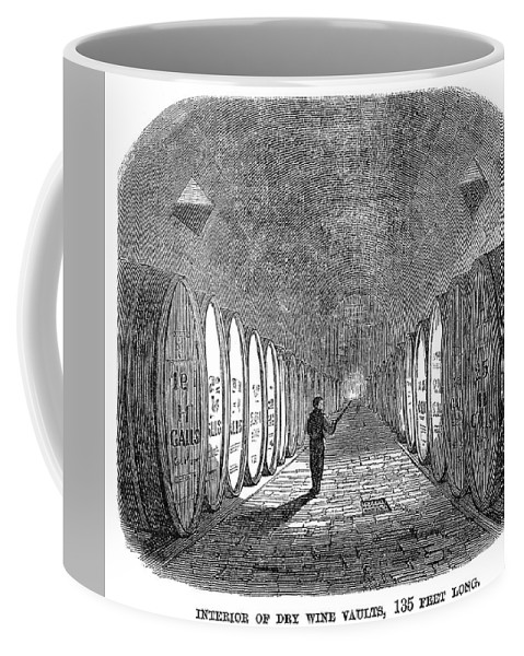 1866 Coffee Mug featuring the painting Winemaking Vault, 1866 by Granger