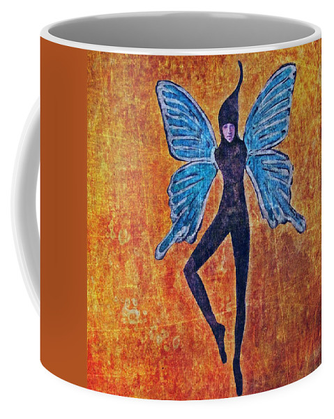 Women Coffee Mug featuring the digital art Wings 16 by Maria Huntley