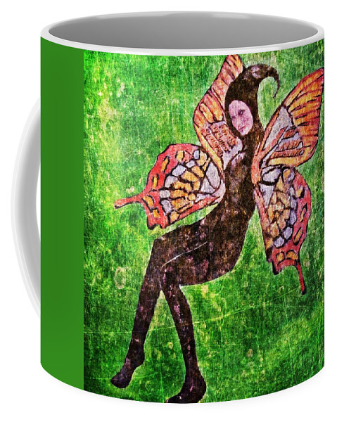 Women Coffee Mug featuring the digital art Wings 17 by Maria Huntley