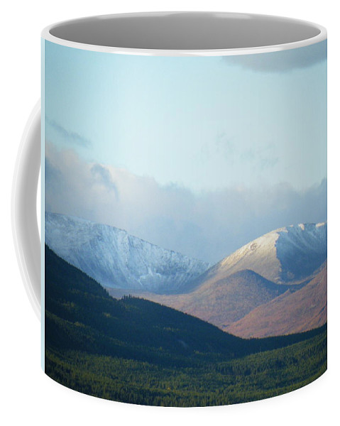 Winter Coffee Mug featuring the photograph Winter Arrives From Above by Brian Boyle