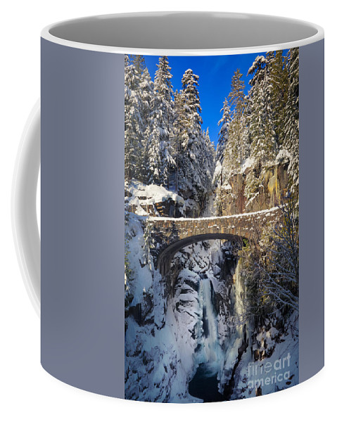 America Coffee Mug featuring the photograph Winter At Christine Falls by Inge Johnsson