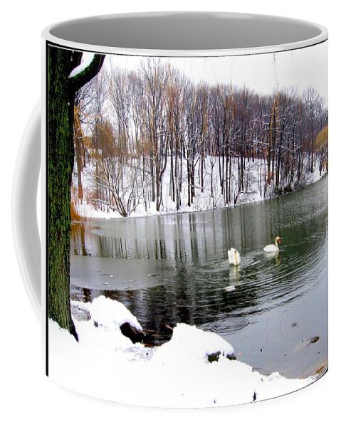 Winter Coffee Mug featuring the photograph Winter At Oakland Lake by Dora Sofia Caputo Photographic Design and Fine Art