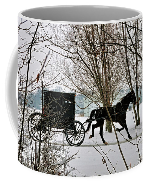 Winter Coffee Mug featuring the photograph Winter Buggy by David Arment