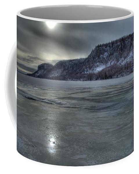 Aboriginal Coffee Mug featuring the photograph Winter Calm by Jakub Sisak