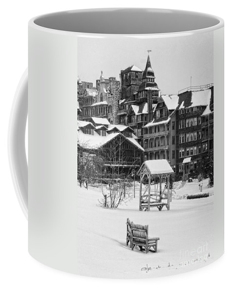 Mohonk Coffee Mug featuring the photograph Winter by Claudia Kuhn