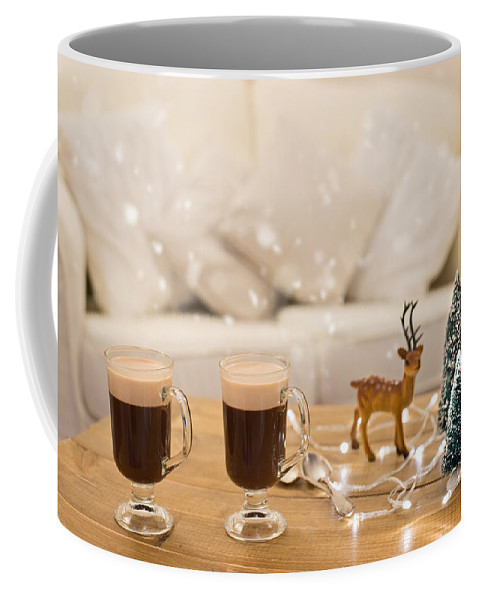 Coffee Coffee Mug featuring the photograph Winter Coffee by Amanda Elwell