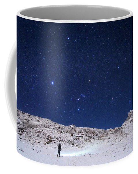Horizontal Coffee Mug featuring the photograph Winter Constellations by Jeff Dai