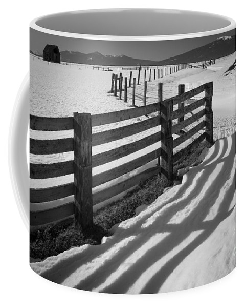 America Coffee Mug featuring the photograph Winter Fence by Inge Johnsson