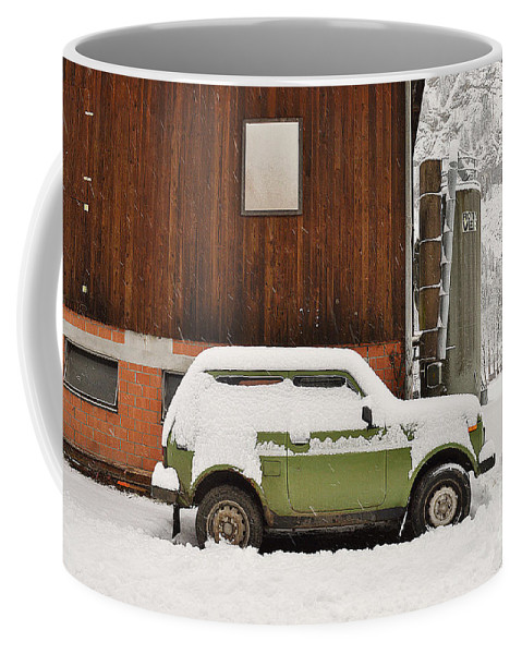 Alps Coffee Mug featuring the photograph Under Snow by Felicia Tica