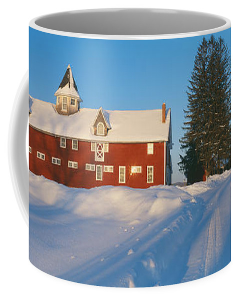 Photography Coffee Mug featuring the photograph Winter In New England, Mountain View by Panoramic Images
