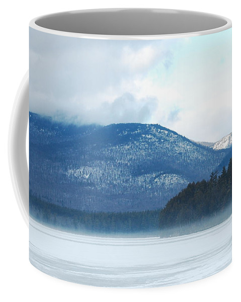 Cold Coffee Mug featuring the photograph Winter Mountain by Mim White