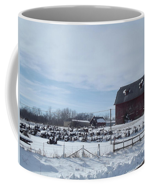 Elkader Iowa Coffee Mug featuring the photograph Winter Museum by Bonfire Photography