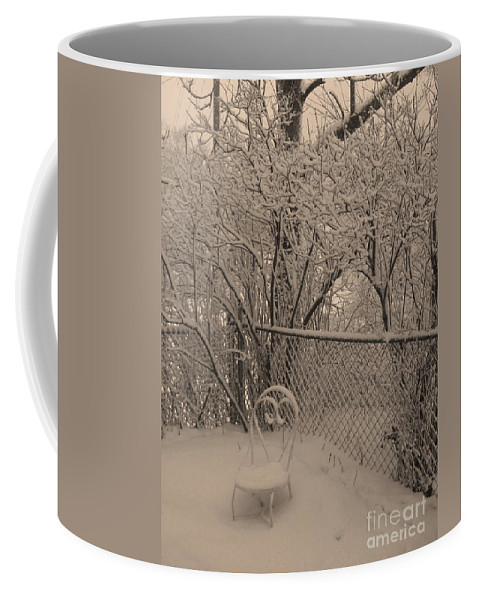 Sepia Coffee Mug featuring the photograph Winter Of One by Adri Turner