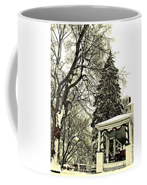 Porch Coffee Mug featuring the photograph Winter Scene by Chris Berry