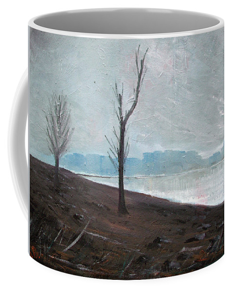 Landscape Coffee Mug featuring the painting Winter by Sergey Bezhinets