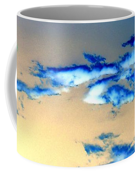 Abstract Coffee Mug featuring the photograph Winter Sky by Katie Beougher